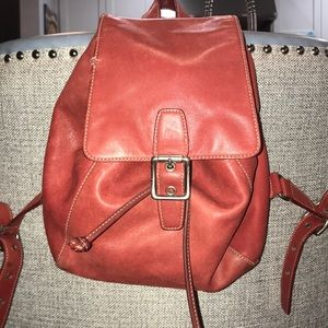 Coach leather backpack -Authentic